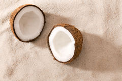 Two half coconut Royalty Free Stock Image