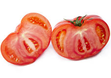 Two half of the cut tomato Stock Photography