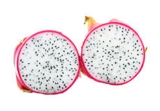 Two Half of Dragon Fruit Royalty Free Stock Photography