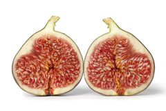Two half fresh figs Stock Photo