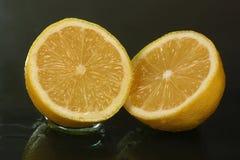Two half lemons Stock Photo
