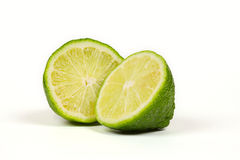 Two half of lime Royalty Free Stock Images