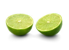 Two half of lime Stock Images