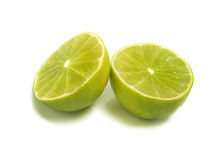 Two half limes Royalty Free Stock Images