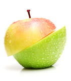 Two Half Of Apples Stock Images