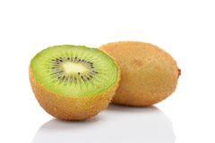 Two Half Of Kiwi Fruit Stock Photo