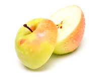 Two half one apple Stock Image