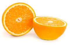 Two half of orange Royalty Free Stock Photos