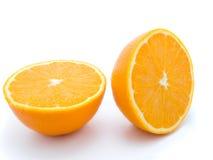 Two half orange fruits Royalty Free Stock Photography