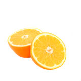 Two half orange isolated Stock Photography
