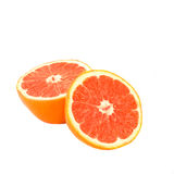 Two half orange isolated Stock Image