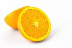 Two half of orange. Isolated on white background Royalty Free Stock Photo