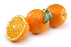 Two Half Orange and Orange Royalty Free Stock Photography