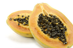 Two half of papaya Royalty Free Stock Photography