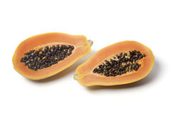 Two half papaya fruit Stock Image