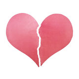 Two half pieces of broken heart Royalty Free Stock Image