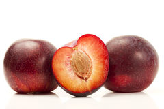 Two and a half plum Stock Images