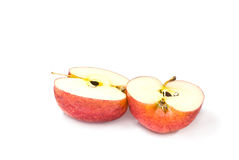 Two half red apple Royalty Free Stock Image