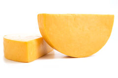 Two Half Wheels of Colby Cheese Stock Photography