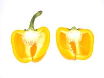 Two half yellow pepper Royalty Free Stock Photography