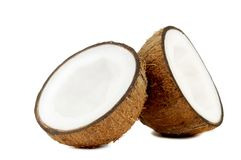 Two halfs of coconut Royalty Free Stock Image