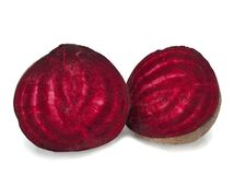 Free Two Halfs Of Red Beetroot Isolated On White Background Stock Images - 169896344