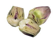 Two halfs and one artichokes Royalty Free Stock Image