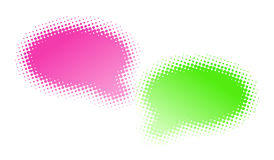 Two halftone bubbles dialog Stock Photo
