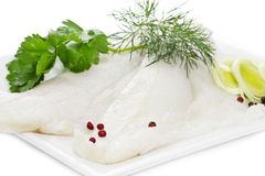 Two Halibut fillets Royalty Free Stock Image