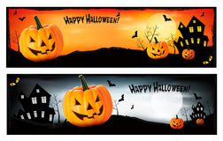 Two Halloween banners Stock Photography