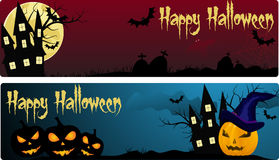 Two halloween banners Royalty Free Stock Photography