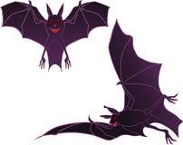 Two halloween bats Stock Image