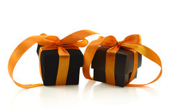 Two Halloween gifts Stock Photos
