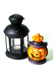 Two Halloween Lanterns Royalty Free Stock Photography