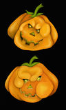 Two halloween pumpkins Royalty Free Stock Images