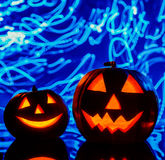 The two halloween pumpkins Royalty Free Stock Photos