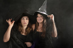 Two halloween witches Stock Photo
