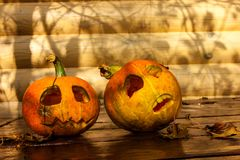 About Haloween Pumpkins Royalty Free Stock Images