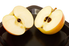 Two halves of an apple Royalty Free Stock Photo
