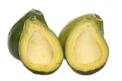 Two and halves avocados Stock Photo