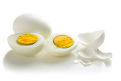 Two halves of boiled egg Royalty Free Stock Photography