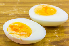 Two halves of a boiled egg Royalty Free Stock Photography