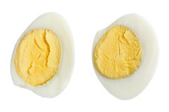 Two halves of boiled quail eggs Royalty Free Stock Photography