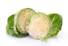 Two halves of cabbage Stock Image