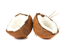 Two halves of coconut Royalty Free Stock Photography