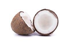 Two halves coconut Stock Photo