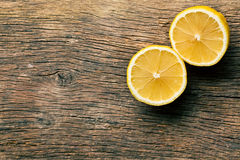 Two halves of fresh lemon royalty free stock image