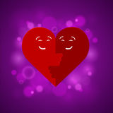 The two halves of the heart Stock Photo