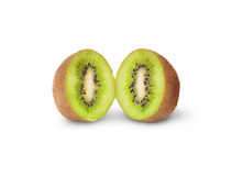 Two Halves Juicy Kiwi Fruit Royalty Free Stock Photography