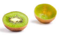 Two halves of kiwi. Stock Photo